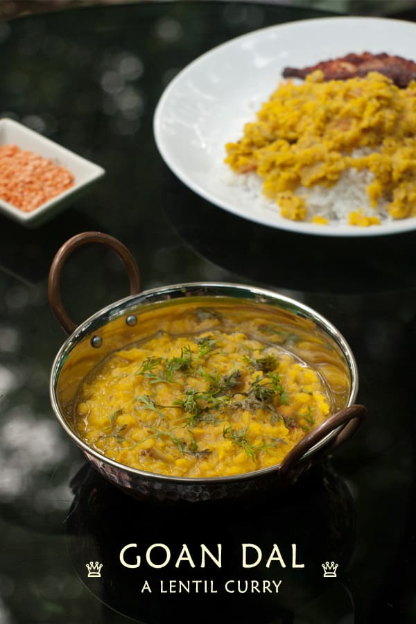 Goan Dal Curry - Masoor Dal - Red Lentil Recipe curry www.masalaherb.com #stepbystep #recipe