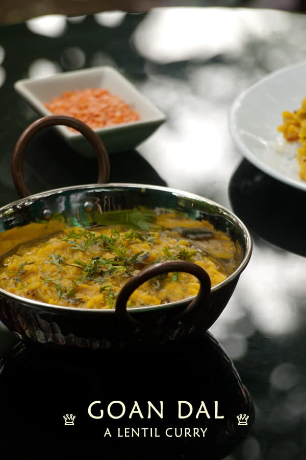 Goan Dal Curry - Masoor Dal - Red Lentil Recipe www.masalaherb.com #stepbystep #recipe