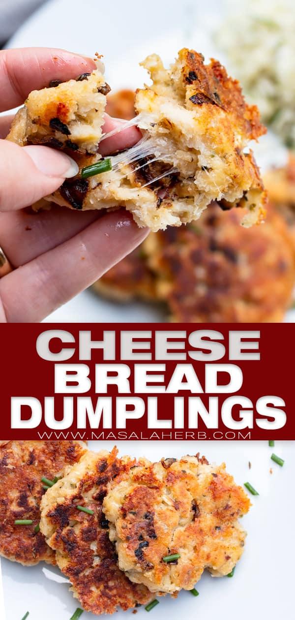pressknödel aka cheese bread dumplings pin