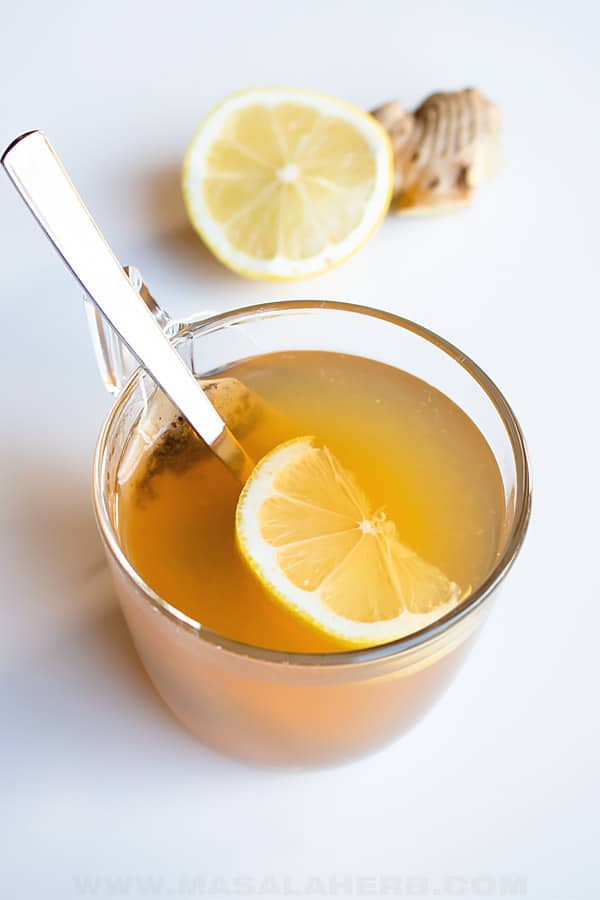 brew tea with ginger and lemon