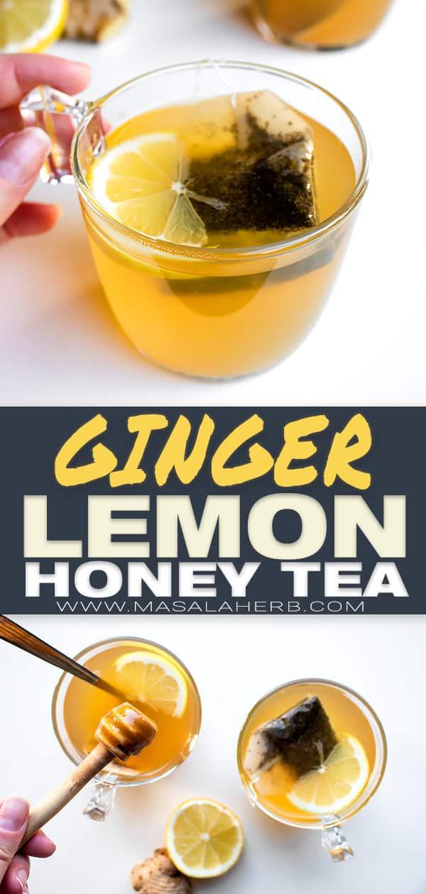 Ginger Lemon Honey Tea pin