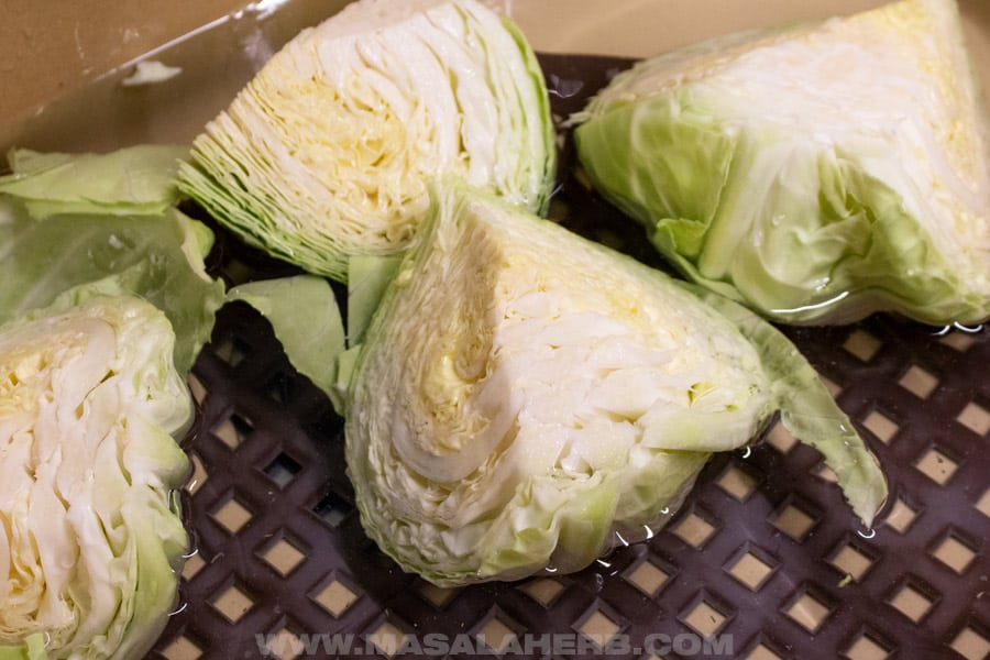 rinse cabbage