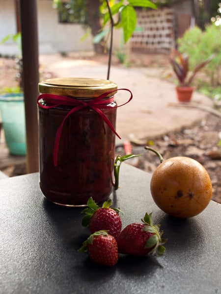 strawberry Passion Fruit jam www.masalaherb.com