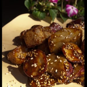Daigaku Imo - Caramelized Sweet Potato #stepbystep #recipe masalaherb.com