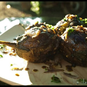 spicy stuffed Aubergine #stepbystep #recipe masalaherb.com