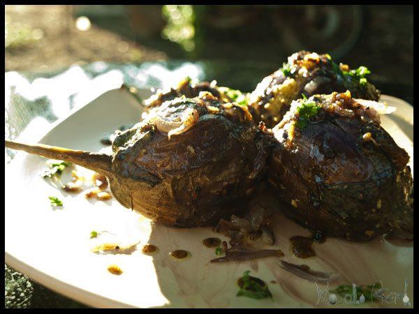 spicy stuffed Aubergine #stepbystep #recipe masalaherb.com