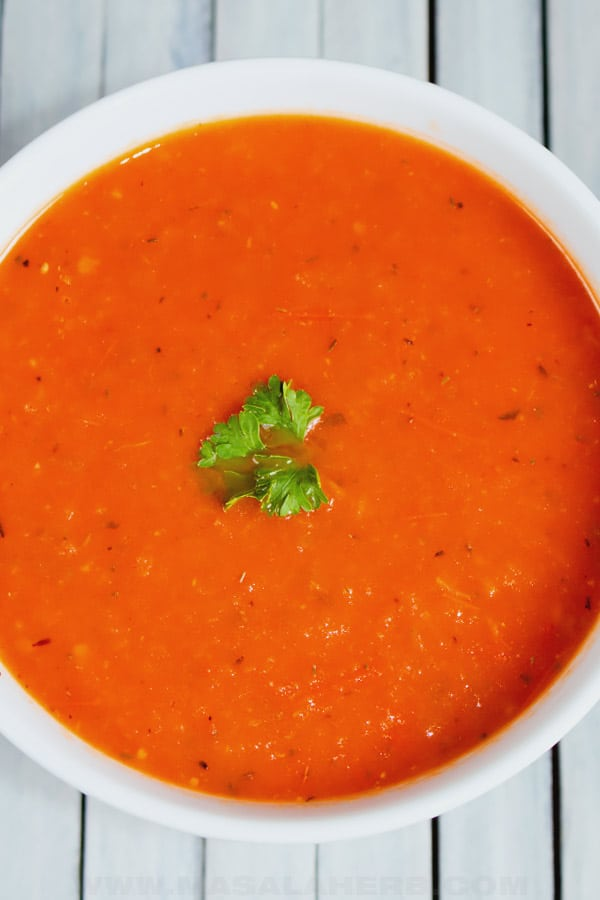 quick and easy tomato basil soup