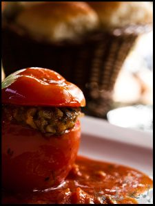 Duxelles stuffed Tomatoes