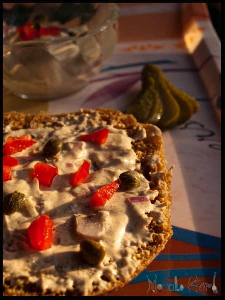 Austrian Liptauer Recipe - How to make Liptauer Cheese Spread [Vegetarian] #recipe masalaherb.com #austrian #cuisine