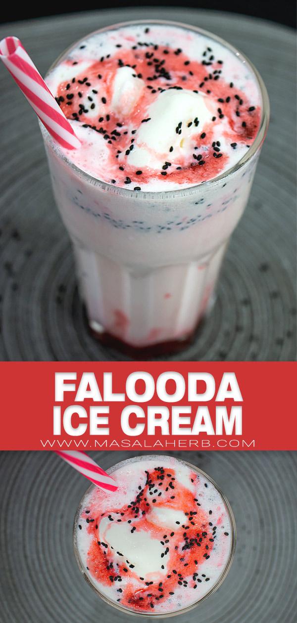 Falooda Ice Cream Recipe pin picture