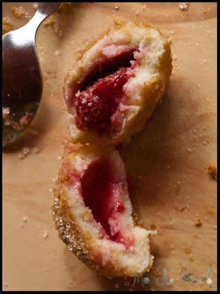 Strawberry Knödel dumplings #stepbystep #recipe masalaherb.com