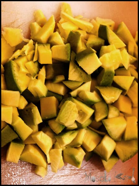 Green Mango Pickle #stepbystep #recipe masalaherb.com