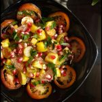 Ivy Gourd Salad with Coconut Vinegar Dressing - Tindora, Tendli gourd #vegetarian #exoticfruits #salad #summer #ivygourd #masalaherb www.MasalaHerb.com