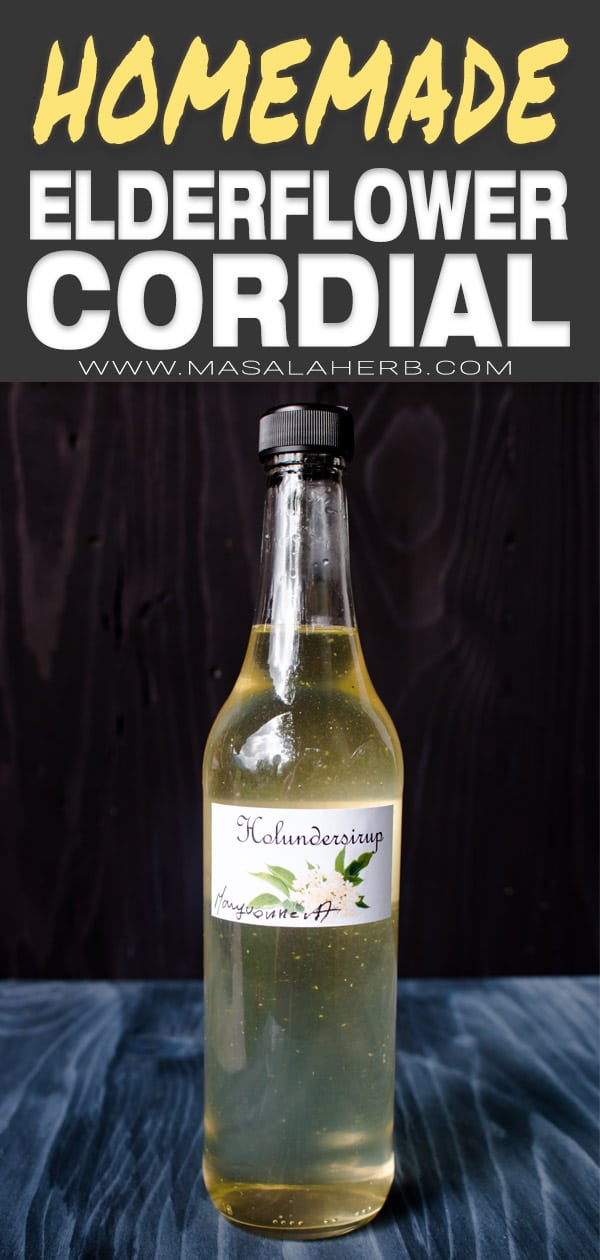 Elderflower Cordial bottle - Holundersyrup