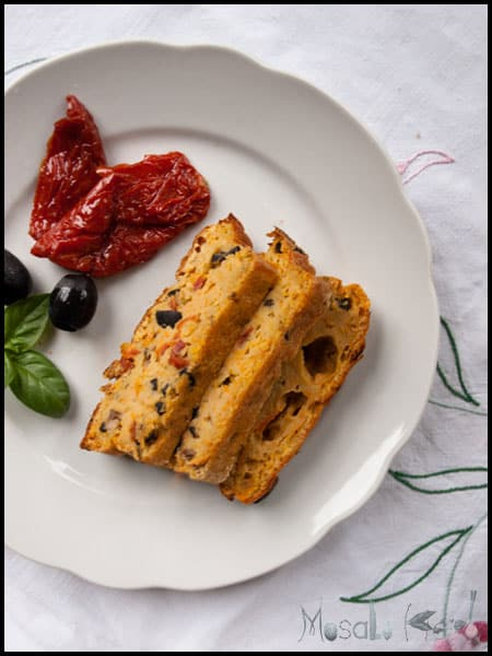 Mediterranean Carrot, Olive, Anchovy, Sundried Tomato cake #stepbystep #recipe masalaherb.com