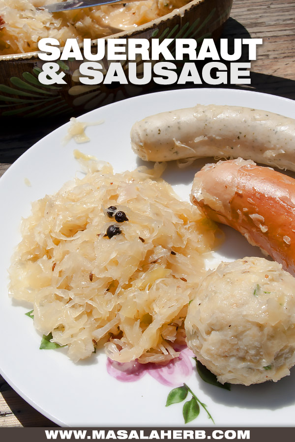 German Sauerkraut and Sausage Recipe cover picture