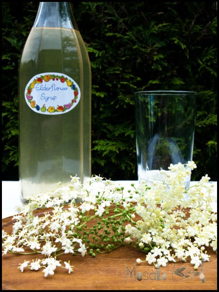 Traditional Elderflower Cordial (Holunder syrup) #stepbystep #recipe masalaherb.com