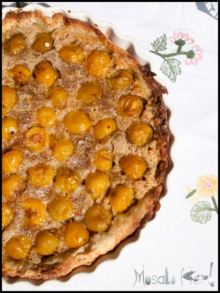 Traditional Mirabelle Tart #stepbystep #recipe masalaherb.com