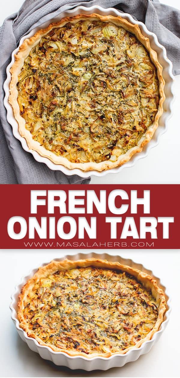 french onion tart pin