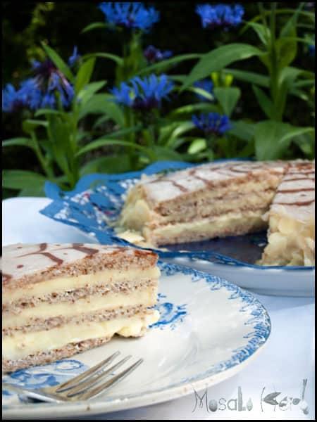 Esterhazy Torte #stepbystep #recipe masalaherb.com