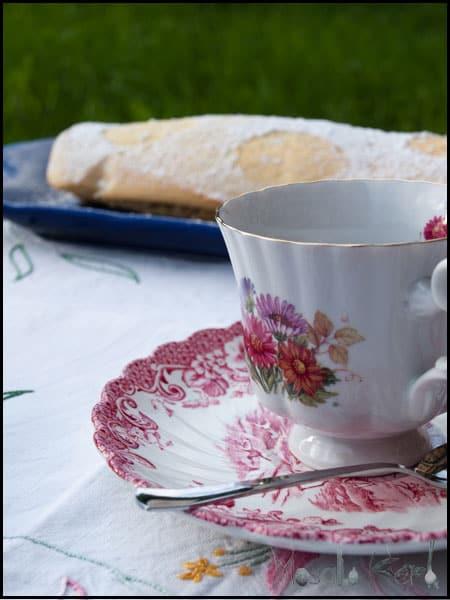Rhubarb Strawberry Jam Roulade - Swiss Roll #stepbystep #recipe masalaherb.com