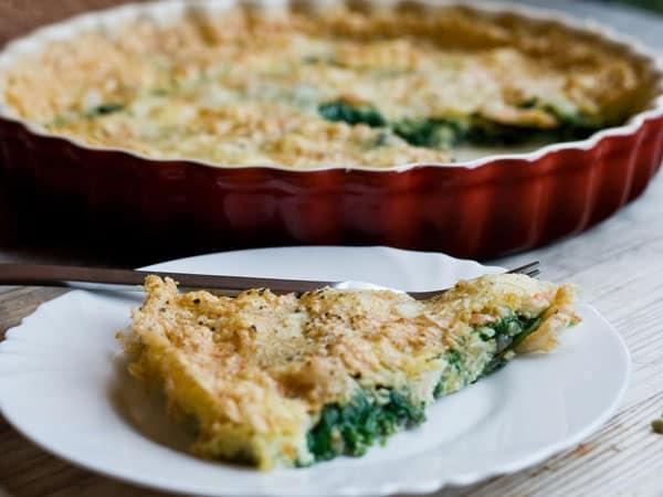 Spinach, Shrimp and Parmesan Frittata #stepbystep #recipe masalaherb.com
