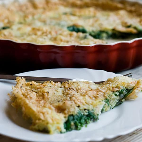 Spinach Parmesan Frittata with Shrimp