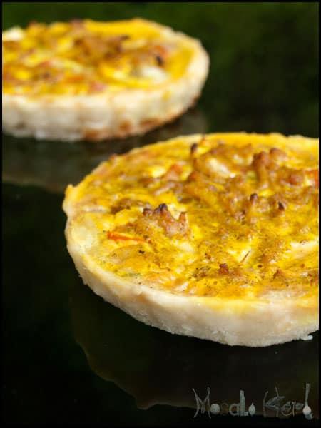 Quiche de Goa with Breadfruit and Luffa Veg #stepbystep #recipe masalaherb.com