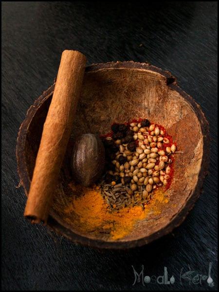 Spicy Pumpkin Soup with Chili Cream #stepbystep #recipe masalaherb.com