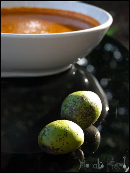 Ambade Curry - Spondias, Hog Plum #stepbystep #recipe masalaherb.com