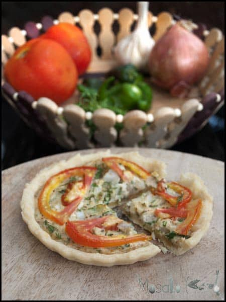Mini Chili Quiche #stepbystep #recipe masalaherb.com