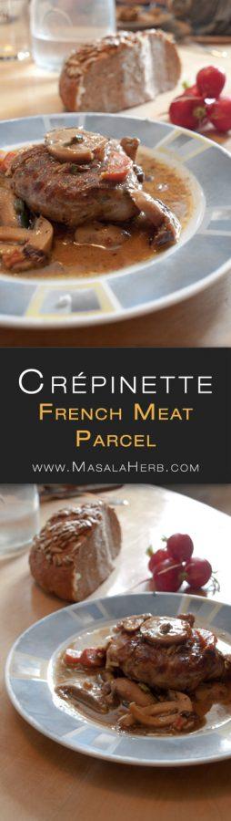 Easy Crépinette Recipe - How to make Crépinette - French Seasoned Pork Meat Parcels www.MasalaHerb.com