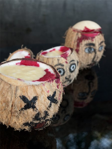 Fruity Coconut Head Juice - #Halloween Special #stepbystep #recipe masalaherb.com