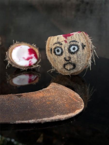 Fruity Coconut Head Juice - #Halloween Special #stepbystep #recipe masalaherb.com