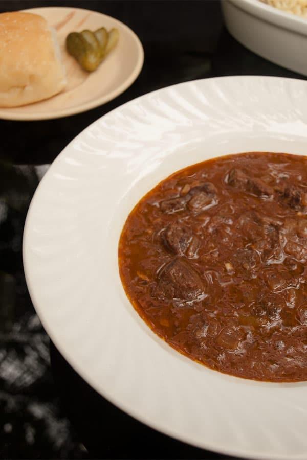 Beef Goulash - Gulasch or Gulyás #stepbystep #recipe masalaherb.com