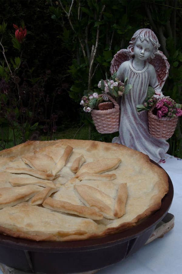 Easy Chicken Mushroom Pie (Tourte) & the Giveaway winner #stepbystep #recipe masalaherb.com