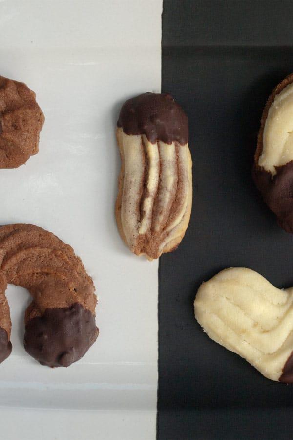 Spritzgebäck - Austrian German Shortcrust Christmas Cookies #stepbystep #recipe masalaherb.com
