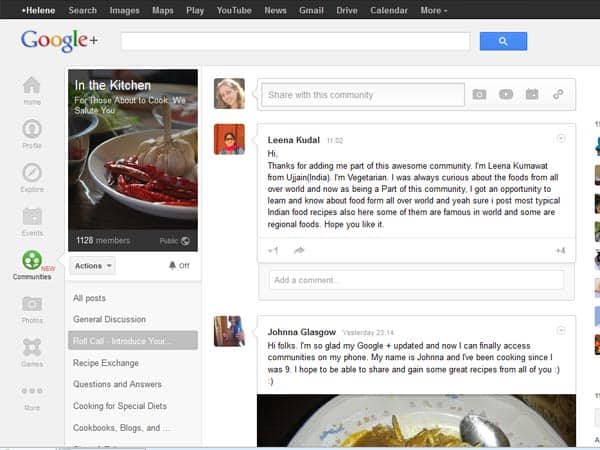 Introduction and Guide to Google+ Communities for Foodies, Cooking enthusiasts and Food Bloggers #Google+ masalaherb.com