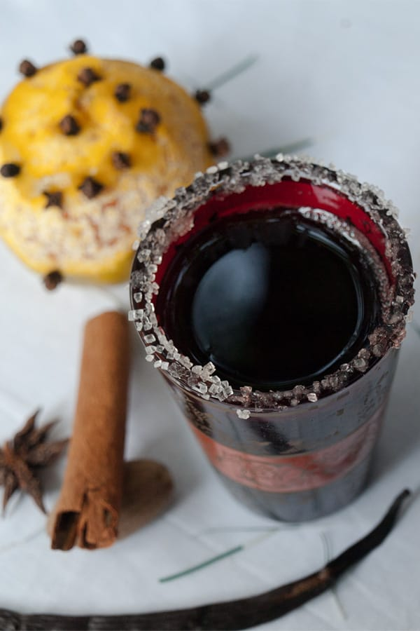 Glühwein - Spiced Austrian & German Christmas Mulled Wine #stepbystep #recipe masalaherb.com