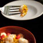 Indian Style Pasta with Prawns and Spicy Yogurt Lemon Sauce