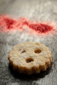 The Austrian Linzer Augen cookies – pate sablée sweet short crust pastry