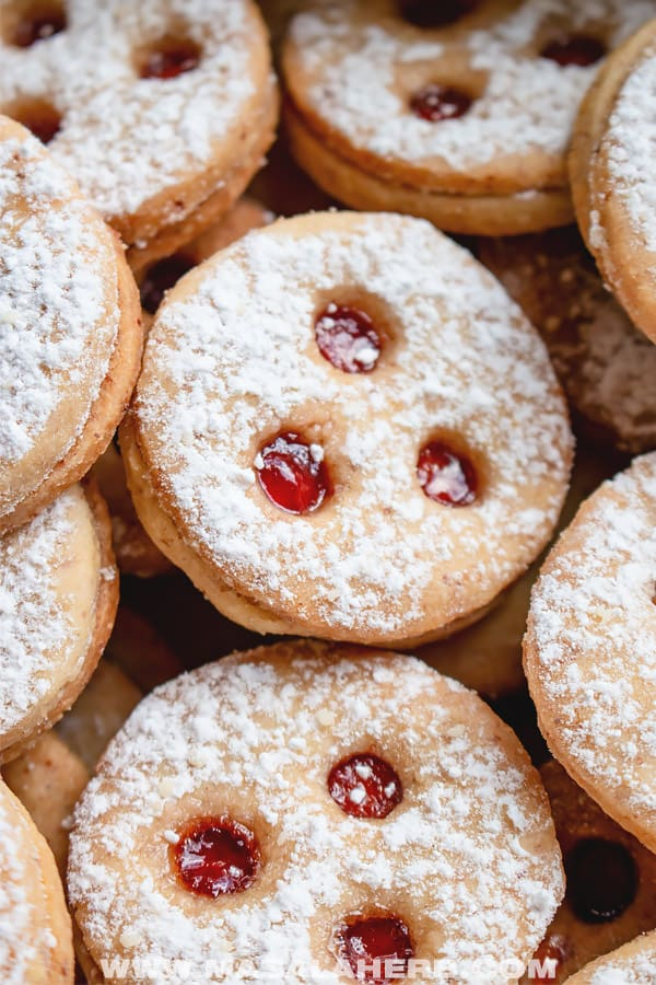 traditional Austrian Linzer cookies