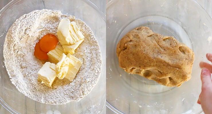prepare linzer cookie dough