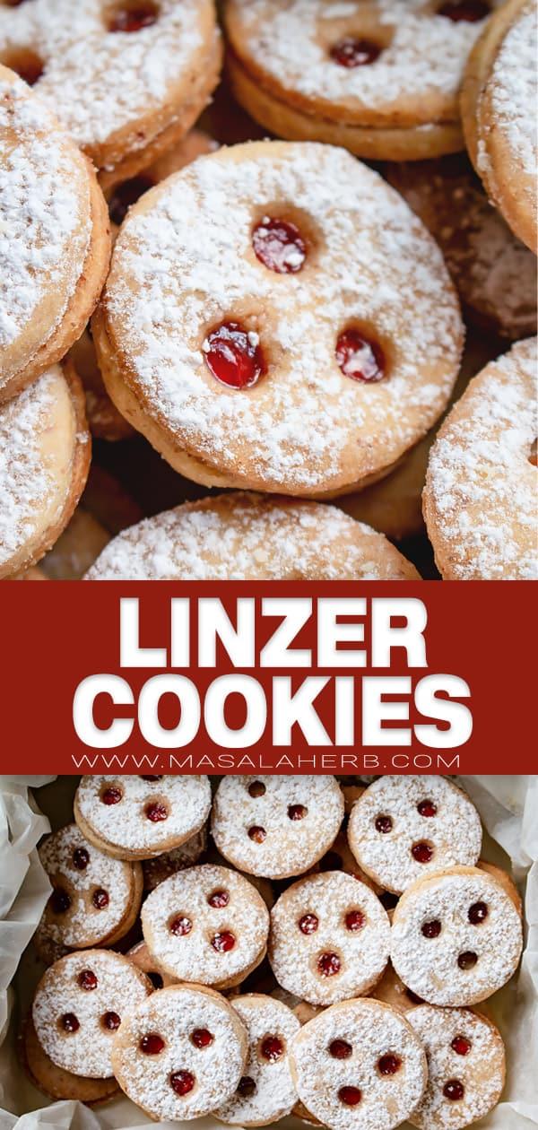 linzer shortbread cookies