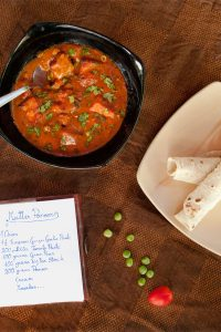 Matar Paneer Recipe Restaurant Style & Nut Free - How to make Mutter Paneer Spiced Green Peas & Indian Cottage Cheese Curry prepared in less then 25 minutes, a almost one pot weeknight meal idea form India. www.MasalaHerb.com