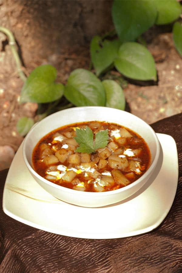 Veg Potato Goulash - Gulyás or Gulasch #stepbystep #recipe masalaherb.com