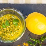 [Guest Post] Almonds and Coriander Pesto by Françoise from Saveurs Croisée