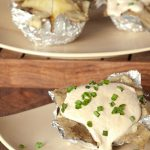 Foil Wrapped Potato & Creamy Garlic Topping #stepbystep #recipe masalaherb.com