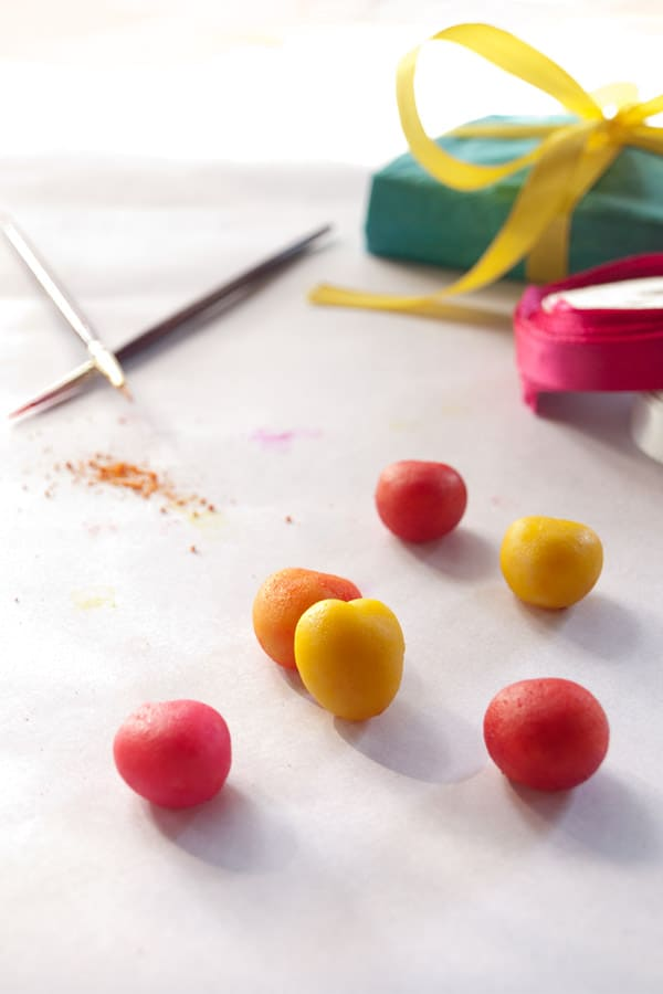 Marzipan Hearts | Pretty #Valentine Candy masalaherb.com
