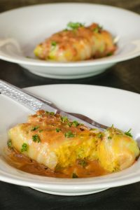 Vegetarian Stuffed Cabbage Rolls Recipe – Healthier German Stuffed Cabbage Rolls